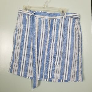 Tommy Hilfiger linen stripes skirt size 8 -N2